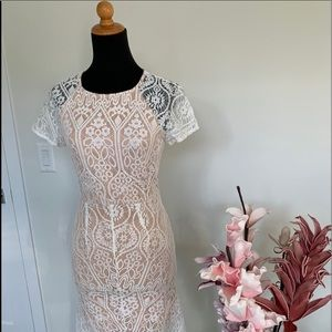 🌸2/$35🌸Wildfire high-low lace dress size Small